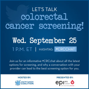 Graphic announcing Twitter Chat on screening