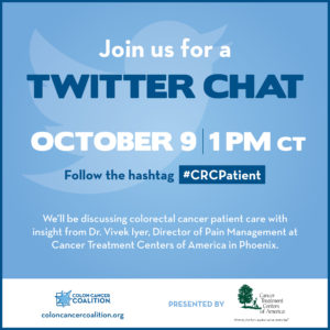 Graphic announcing Twitter Chat