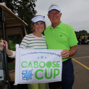 Paula and Dan McQuillen at the Caboose Cup