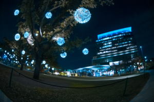 Blue lights in Houston TX 2019