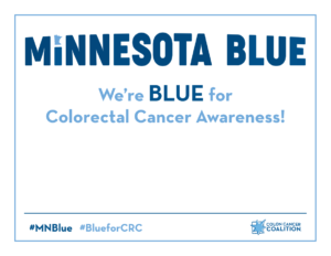 Minnesota BLUE Social Media Sign