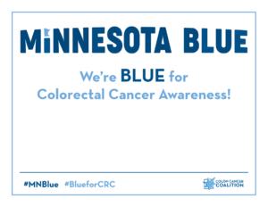 Minnesota BLUE Social Media Sign