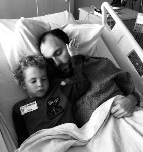 justin vossen son garrett hospital bed