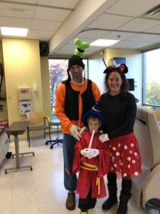 justin vossen family disney hospital visit halloween