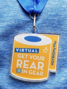 Get Your Rear in Gear 2020 Virtual Medal