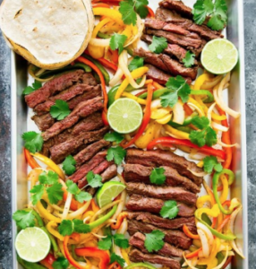 Sheet pan fajitas.